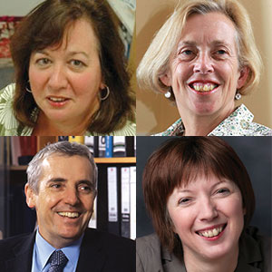 Clockwise from top left: Christina McAnea, Cathy Warwick, Frances O'Grady and Dr Peter Carter   Christina McAnea, Head of Health, UNISON