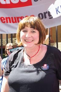 QNU Secretary Beth Mohle