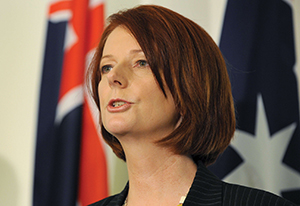 """I offer absolutely no apology for putting the opportunities of Australian working people first"" - PM Julia Gillard"