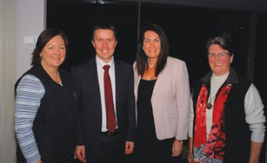 From left to right: Debbie Lang, RN, NSWNA Councillor, QACAG member; Minister for Mental Health & Ageing Mark Butler; MP