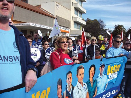 Industrial Issues - ofarrell puts nurses conditions at risk - Tamworth-Rally-0392