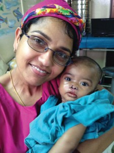 Annie Vincent with patient Marium, after the operation.