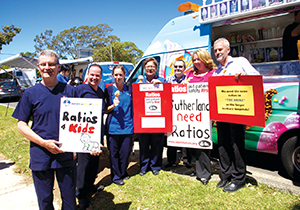 Sutherland Hospital Rally Branch President Warwick Moriarty with small group 15_10_13