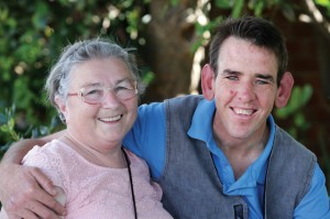 Wendy Cuneo and her son David, a Stockton Centre resident. photo: ryan osland, newcastle herald