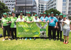 NSWNMA representatives with our colleagues from the Queensland Nurses Union at the G20 Roadshow