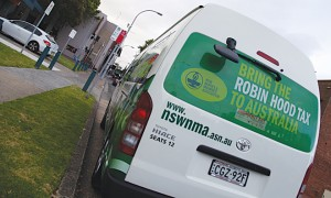 The NSWNMA advocated for the Robin Hood tax on a road tour starting in Wollongong and progressing through Parramatta, Gosford, Newcastle, Tamworth, Port Macquarie, Coffs Harbour, Lismore and Tweeds Head before finally arriving in Brisbane for the G20.